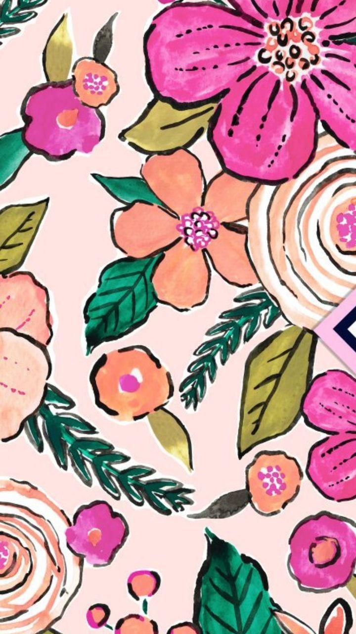 Flowers Pattern Uploaded By Marvelousgirl94 On We Heart It Flower Wallpaper Iphone Wallpaper Cute Patterns Wallpaper