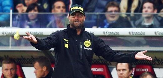 Dortmund-Trainer Klopp: Im Spiel gegen Frankfurt auf die Tribüne geschickt