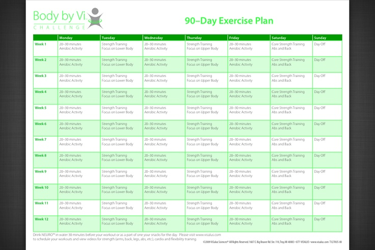 Workout Plan 100 Day Challenge Pinterest