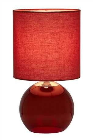 Glass Globe Red Table Lamp £20