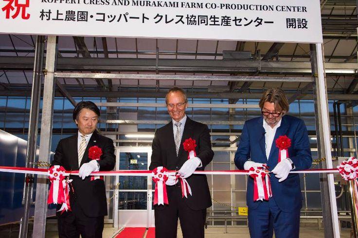 Minister Kamp opent, samen met Rob Baan, het nieuwe centrum van Koppert Cress in Japan