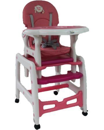 Tizo HC-223 розовый  — 5890р. ---------------------------------- Стул-стол Tizo HC-223 розовый - практичная модель-трансформер, превращающаяся в стол и стул. Снабжена колесиками с блокираторами, съемным столиком и подносом, 5-точечным ремнем безопасности, подножкой и текстильным чехлом. В комплекте полозья для качания,...