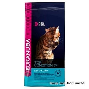 Eukanuba Adult Senior Cat Food 2kg Eukanuba Adult Senior Cat Food is made with lots of chicken and liver especially for older cats.