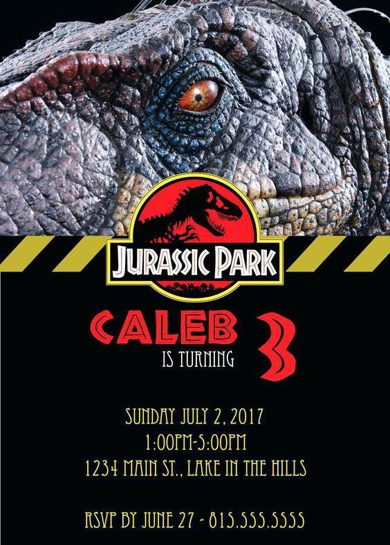 Free Jurassic Park Birthday Invitations Digital Party Invitation Parks