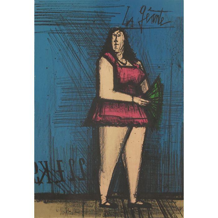 Bernard Buffet; Color Lithograph 'La Geante (from Mon ...
