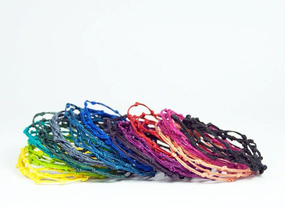 DIY Kit: KNOT Bracelet / Necklace - Handmade Gift - Fun & Easy - DIY with Paper Twine - Choose your own colors!