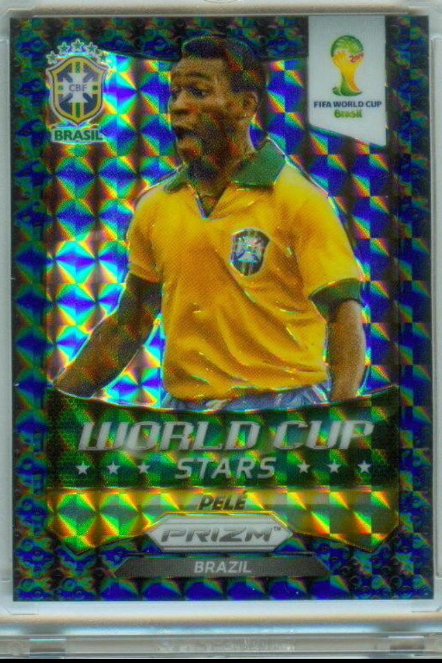 2014 PANINI WORLD CUP PRIZM PELE SUPER REFRACTOR CARD 1/1 SELLS AT AUCTION FOR $1,540.15