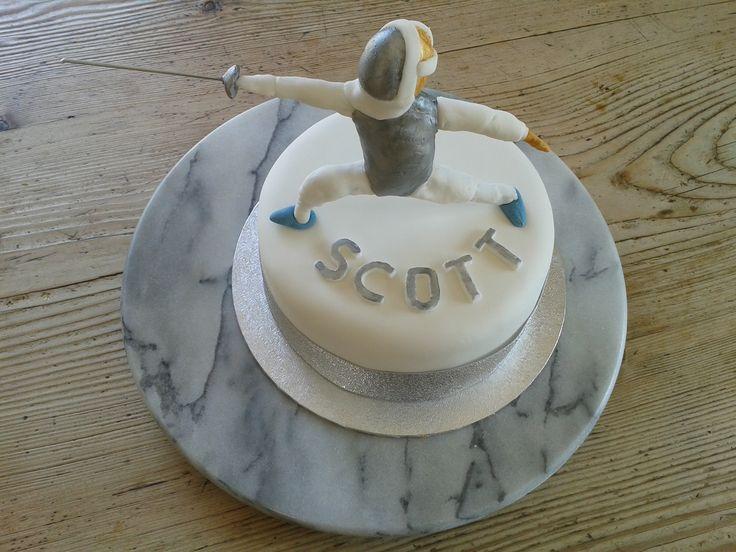 Scott fencing cake