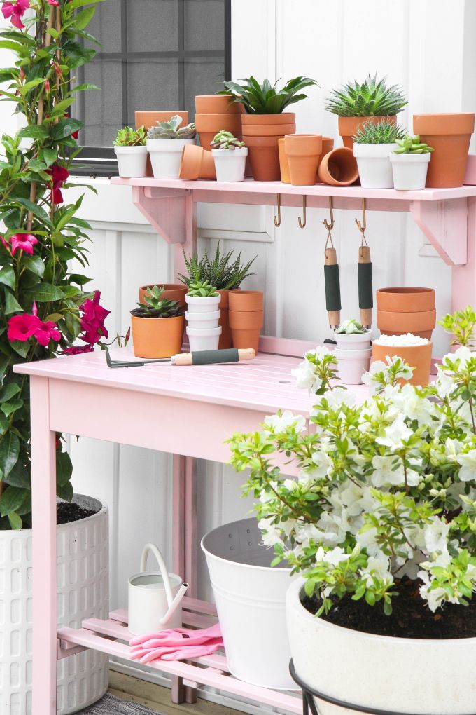 » DIY MAKEOVER | Pink Potting Station
