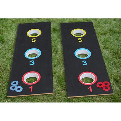 Washer toss game - we could probably make something similar.  Backyard fun.
