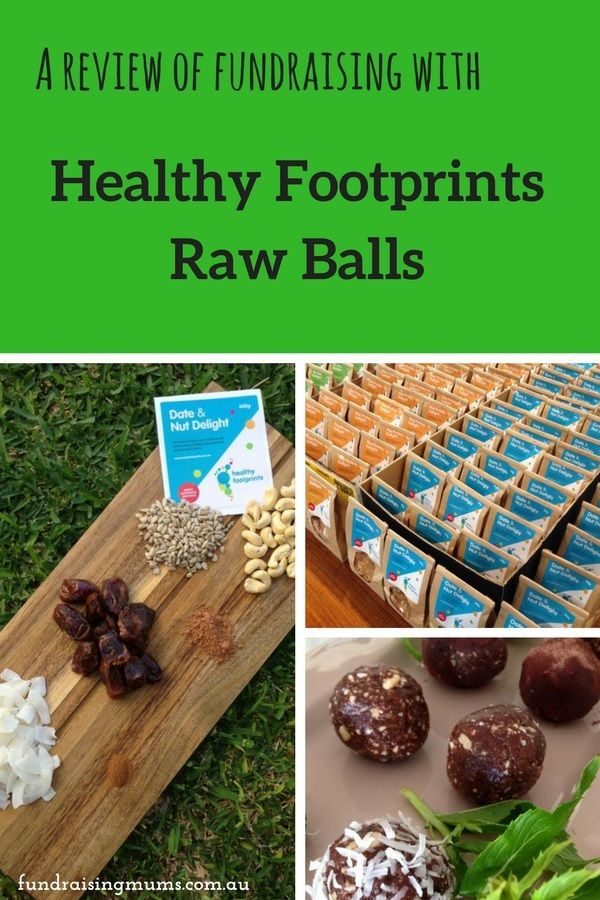 A review of fundraising with Healthy Footprints 'raw' balls