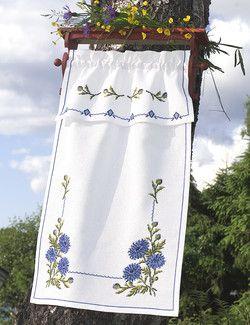 Svarta Fåret, Paradhandduk Blå blommor, 361492