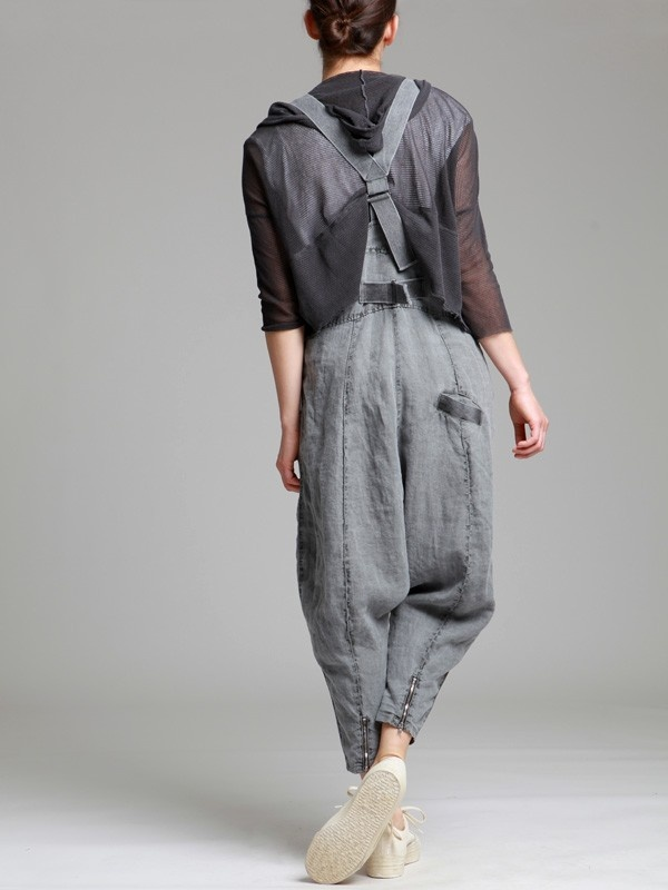 aged linen drop crotch trouser with rustic braces jackets jumpsuits dresses trousers. Black Bedroom Furniture Sets. Home Design Ideas
