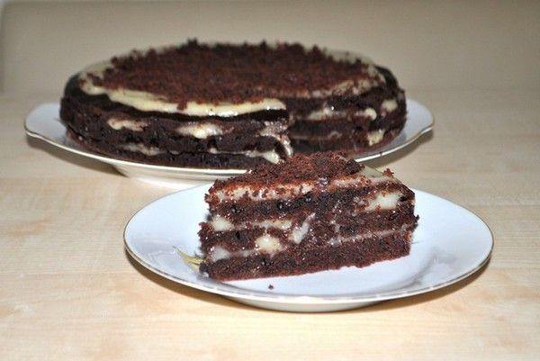 Постный и вкусный торт без яиц и молока!? Это возможно! Шоколашный кекс-торт с лимонно-банановым кремом
