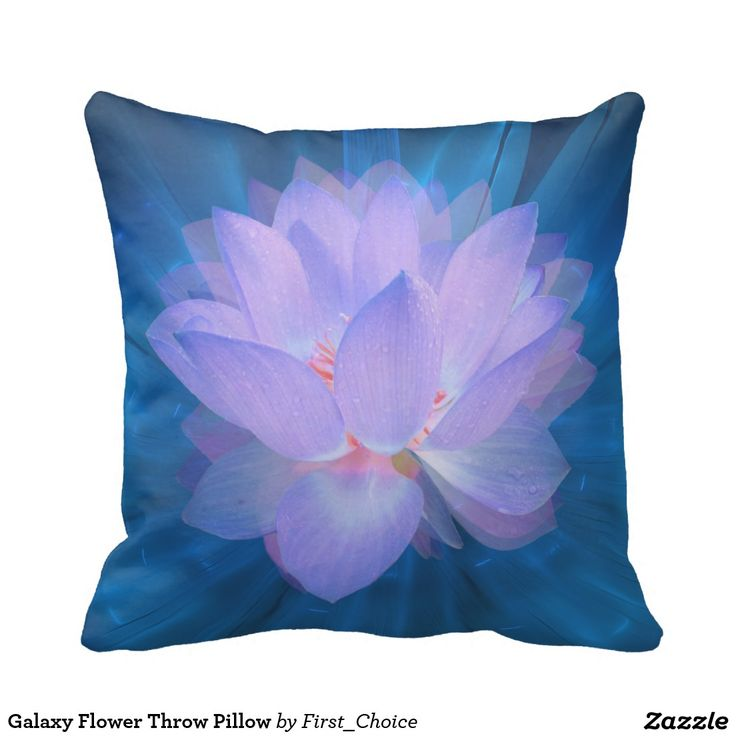 Galaxy Flower Throw Pillow