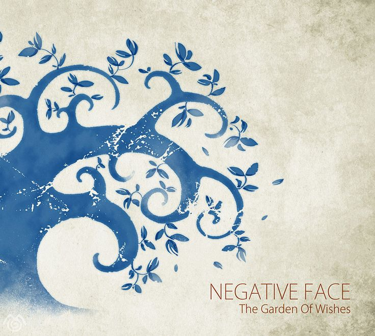 Album artwork by Maťo Mišík www.matomisik.com - Negative Face — The Garden of Wishes  #cdcover #albumartwork #albumart #coverart #tree #blue