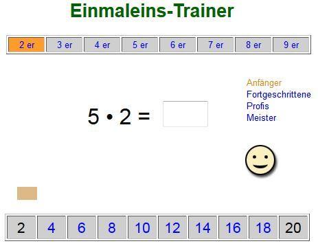 Einmaleins-Trainer - für Anfänger, Fortgeschrittene, Profis und Meister