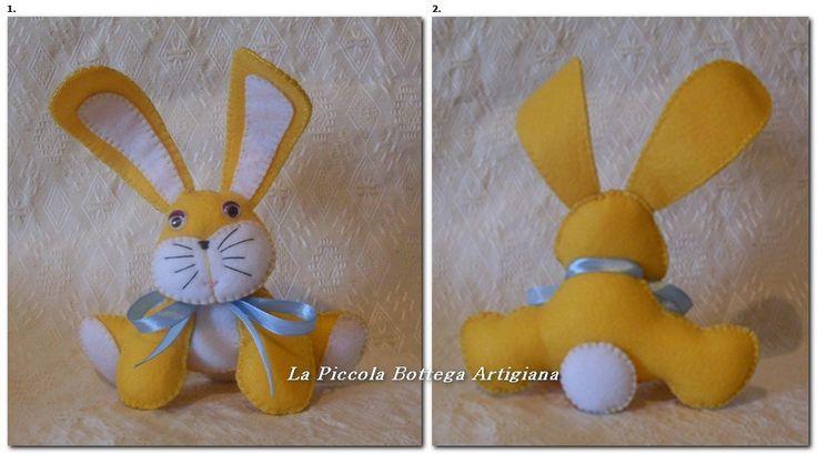Coniglietto in pannolenci giallo