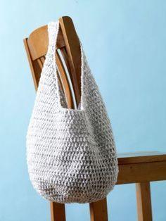 Crochet Hobo Bag - Tutorial.