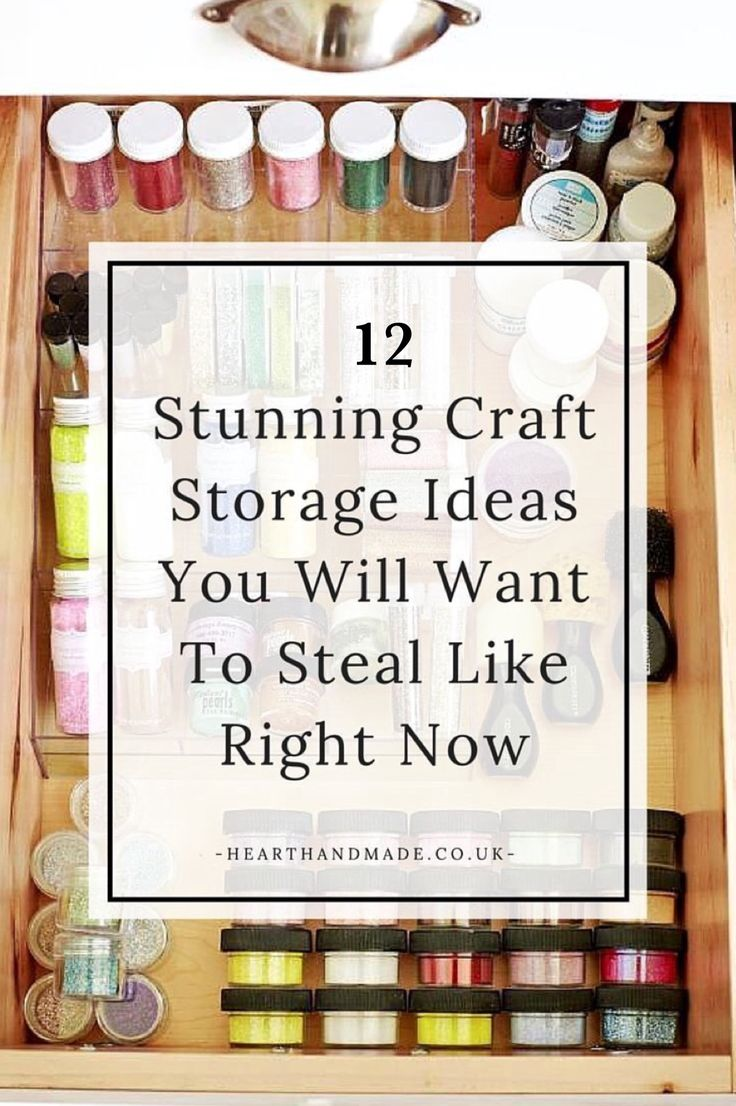 '12 Craft Storage Ideas You Will Want To Steal Right Now...!' (via Heart Handmade uk)