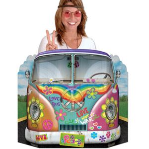 BE57950 - Photo Pop Hippie Bus Photo Prop Hippie Bus (91cm x 63cm) (Not suitable for Express Post due to size of product). Please note: approx. 14 day delivery time.