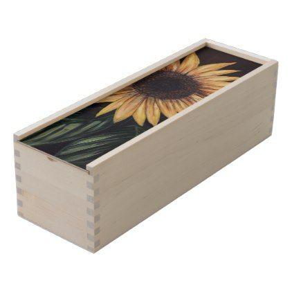 Sunflower Life Wooden Keepsake Box - flowers floral flower design unique style