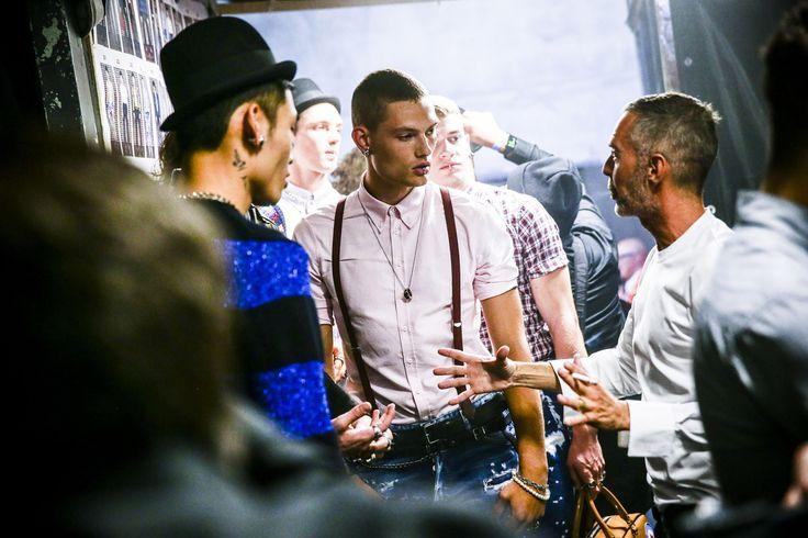 Ph. Vittorio Zunino Celotto #backstage #mfw #ss17 #dsquared2 #menswear #milan