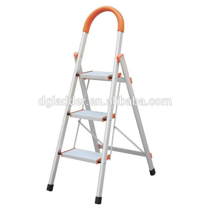 Household 3 steps Combination Foldable Aluminium Ladder with EN131