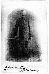Doc Holliday - Autographed photo of Holliday taken in 1879 in Prescott, Arizona