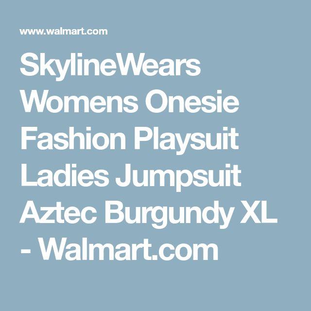 SkylineWears Womens Onesie Fashion Playsuit Ladies Jumpsuit Aztec Burgundy XL - Walmart.com