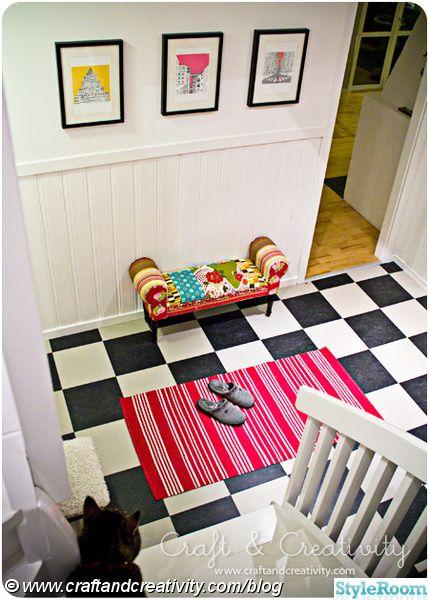 Inspiration för rutigt golv (17 bilder)