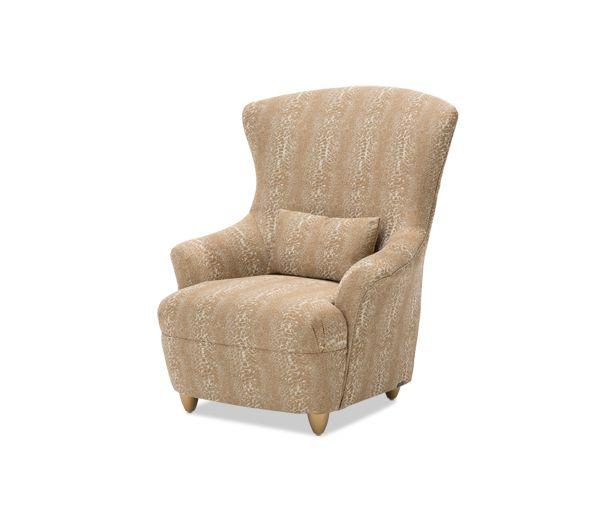 Cache High Back Chair BrightGold|Studio| Michael Amini Furniture Designs | amini.com
