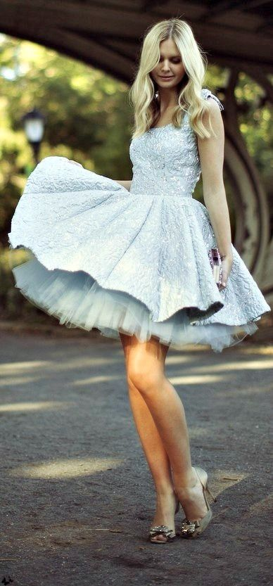 Fashion Inspiration Cute brocade dress with tuelle skirt