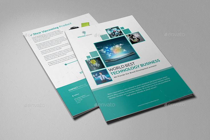 Technology Bifold Brochure_4 Pages #Ad #Bifold, #Affiliate, #Technology, #Pages