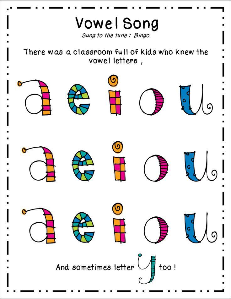 Inspired by Kindergarten: Vowels (freebie)