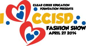 """We are thrilled to be the host for the upcoming 8th Annual Clear Creek Education Foundation Fashion Show! This year's show on April 27th boasts runway seating, hors d'oeuvre stations and talent vignettes straight from the halls of CCISD schools. Please join us in supporting educational excellence by clicking on Pin to Purchase Tickets or your """"I Love CCISD"""" T-Shirt!"""