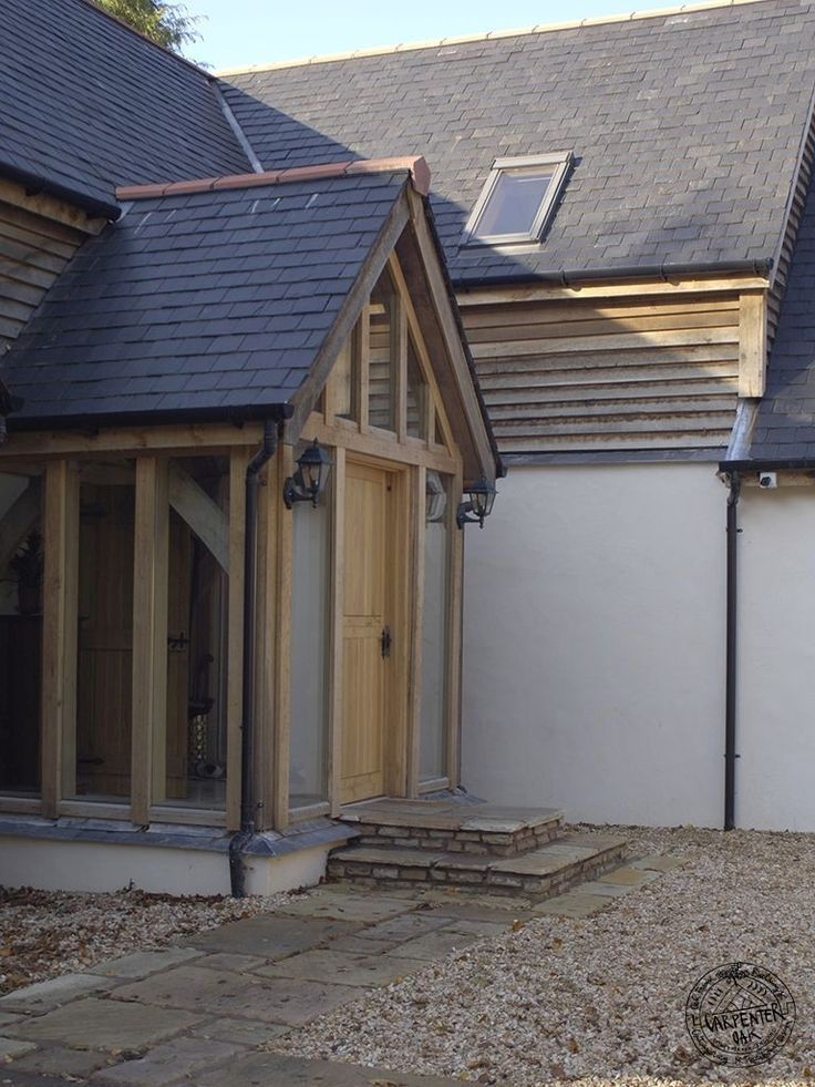 Integrated Oak Framed Porch by Carpenter Oak Ltd Devon
