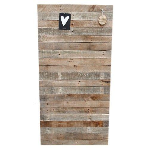 Prikbord van oude pallets!