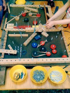 Teacher Tom: Tinkering Table  ≈ ≈ For more STEAM pins: http://pinterest.com/kinderooacademy/steam-in-early-education/