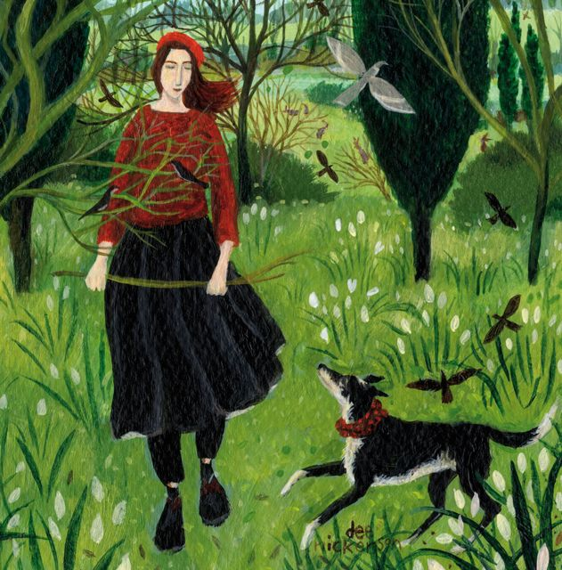'The Stick' By Painter Dee Nickerson. Blank Art Cards By Green Pebble. www.greenpebble.co.uk