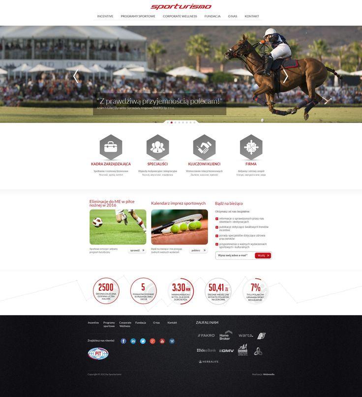Strona internetowa dla branży eventowej. Agencja interaktywna Webmedio.  #event_website #rwd_website   http://www.webmedio.pl/