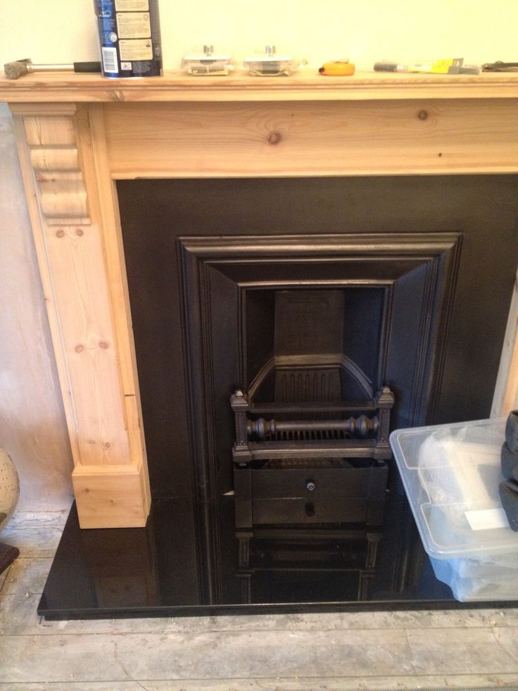 Fireplace before painting