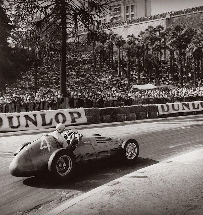 Fangio on Maserati- Grand Pix de Pau, France 1949. Photo by Jean Dieuzaide