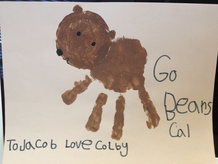 Handprint quot Cal Bear quot for Jacob