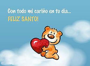 Feliz Dia de tu Santo - Con todo mi cariño en tu Santo - Correomagico | Mágicas postales animadas gratis - Tarjetas de Santoral