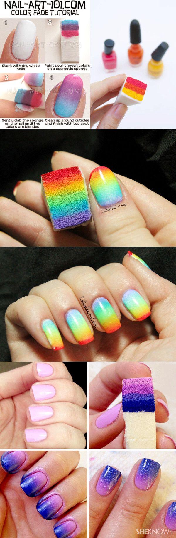 $0.99 3pcs Gradient Nails Soft Sponges for Color Fade Manicure - BornPrettyStore.com