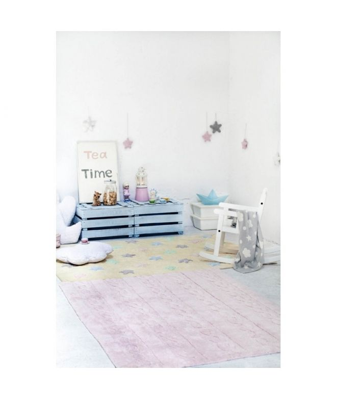 Classic and elegant Carpet for children's rooms: delicate and soft touch texture May be cleaned in a washing machine! 100% natural cotton, handmade