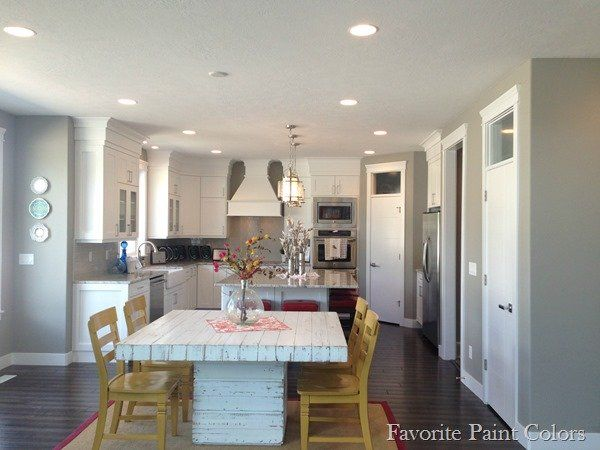 Favorite Paint Colors Blog Dorian Grey SW Kitchen....all Lights On