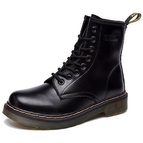 Oferta: 72.98€ Dto: -47%. Comprar Ofertas de JACKSHIBO Botas de cuero para mujer Botas de combate de invierno barato. ¡Mira las ofertas!