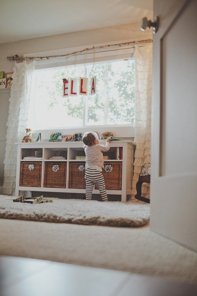 Love the curtain rod.  Baby names From Adele to Zoe:  A Year of Stylish Girls' Names